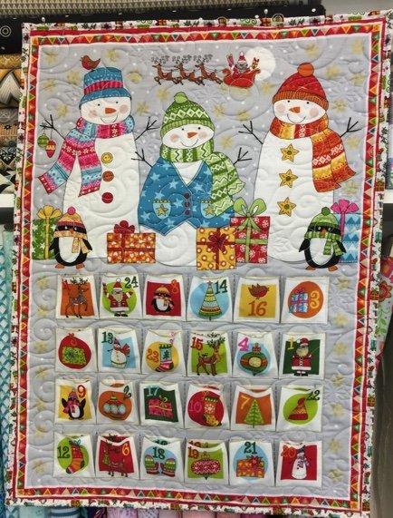 2019 Festive Advent Calendar Fabric Kit