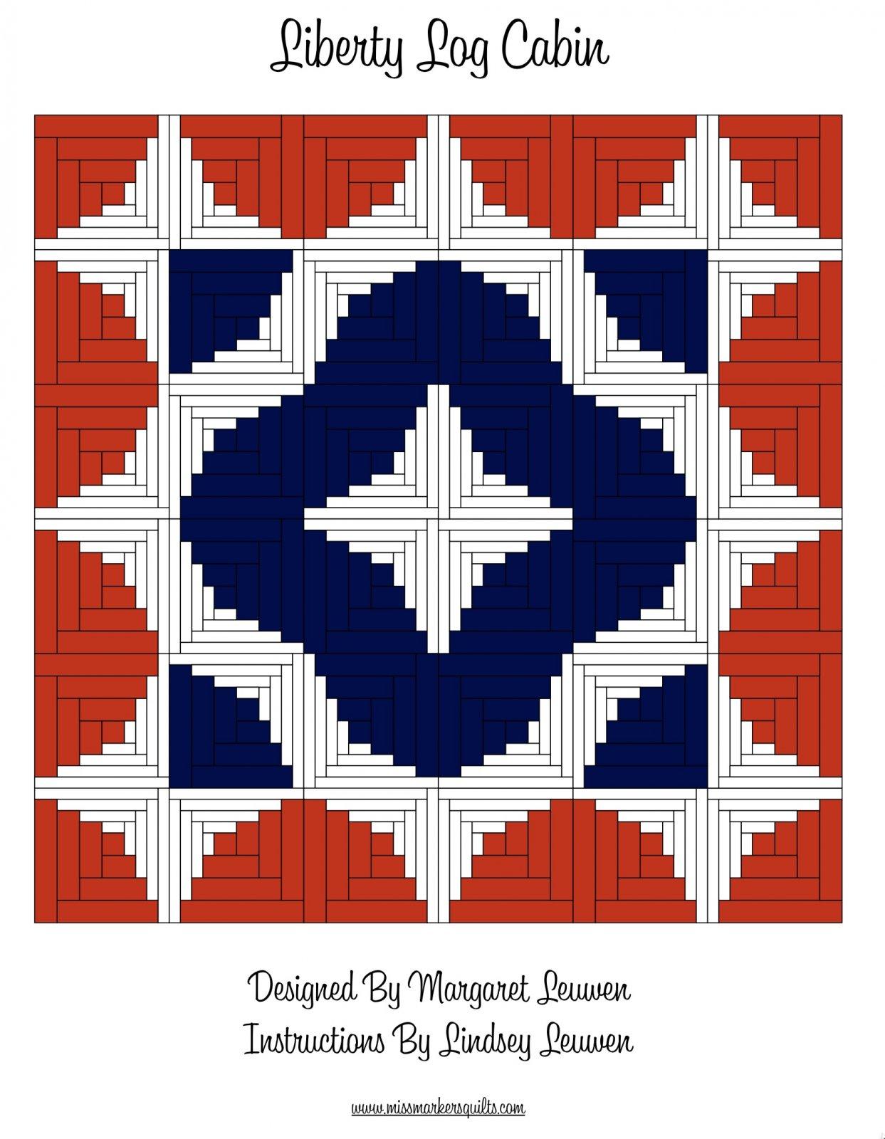 Liberty Log Cabin Pattern