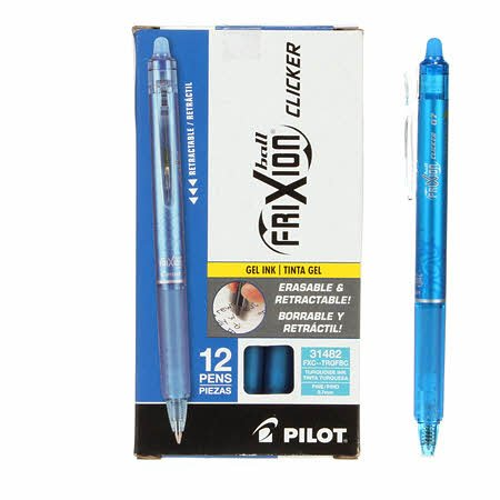 Frixuib Clicker Pen Turquoise Fine Point