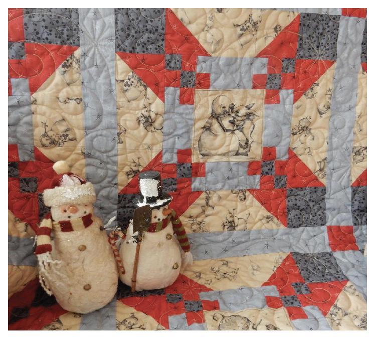 Snow Bunnies Fabric Kit