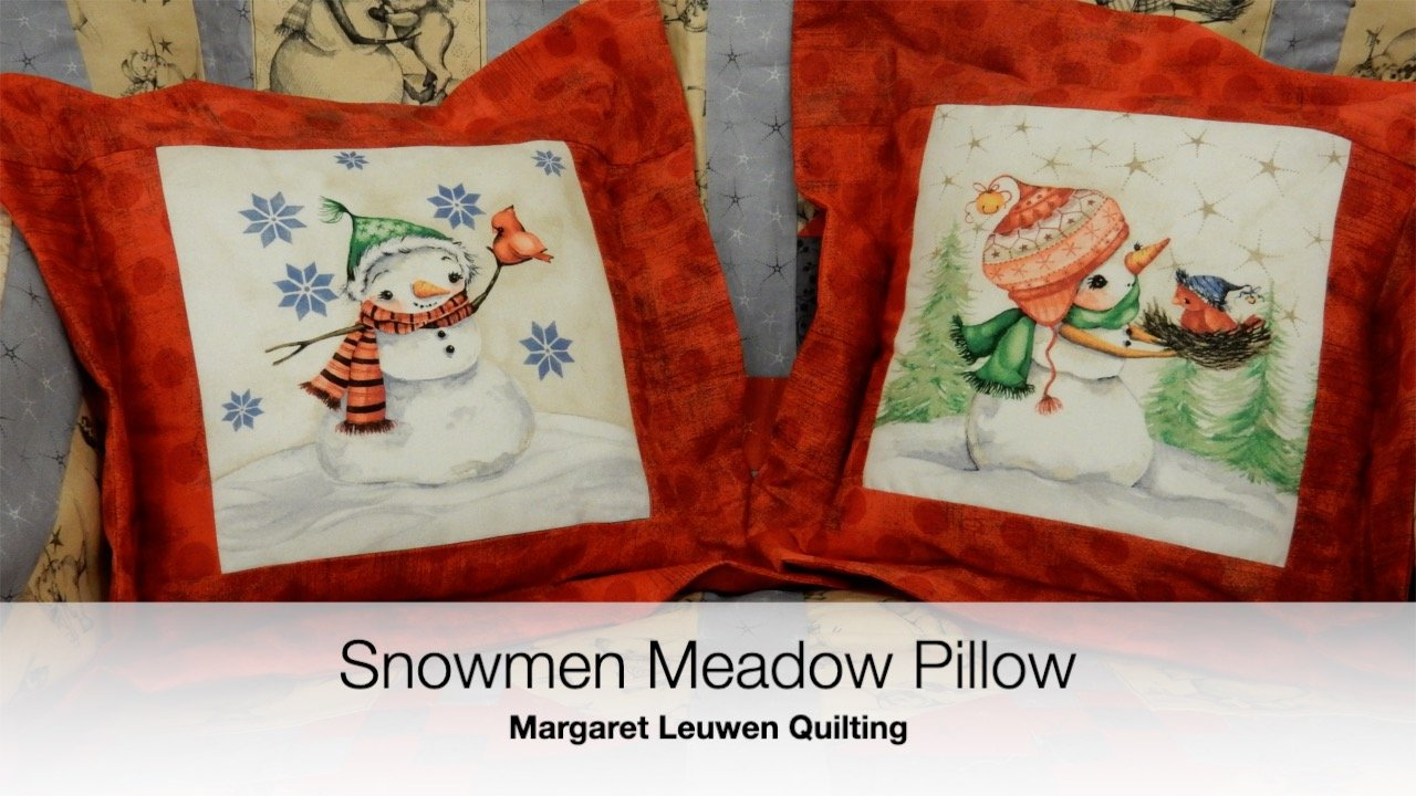 Snowmen Meadow Pillows
