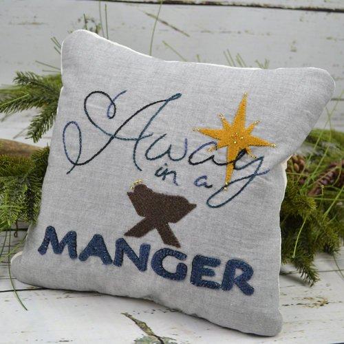 Away in a Manger Wool Pillow Kit