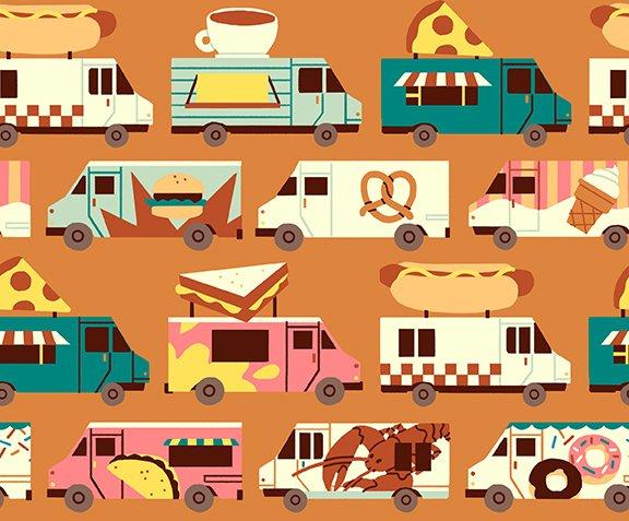 Stripe Orange - Food Truck