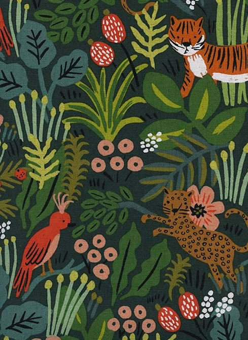 Menagerie by Rifle Paper Company : Jungle Hunter in Cotton Linen Canvas