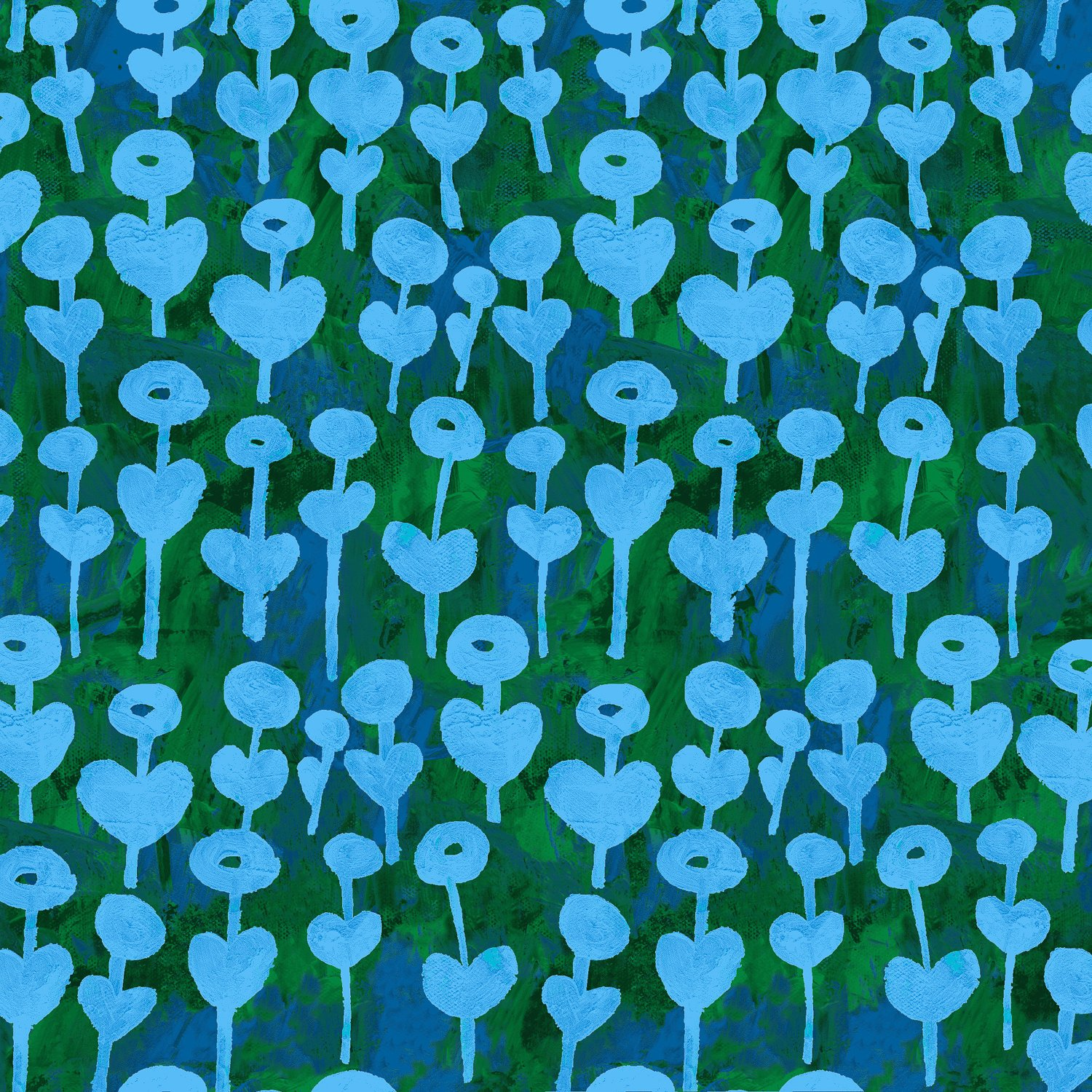Love Flower Azure Rayon - Once Upon A Time