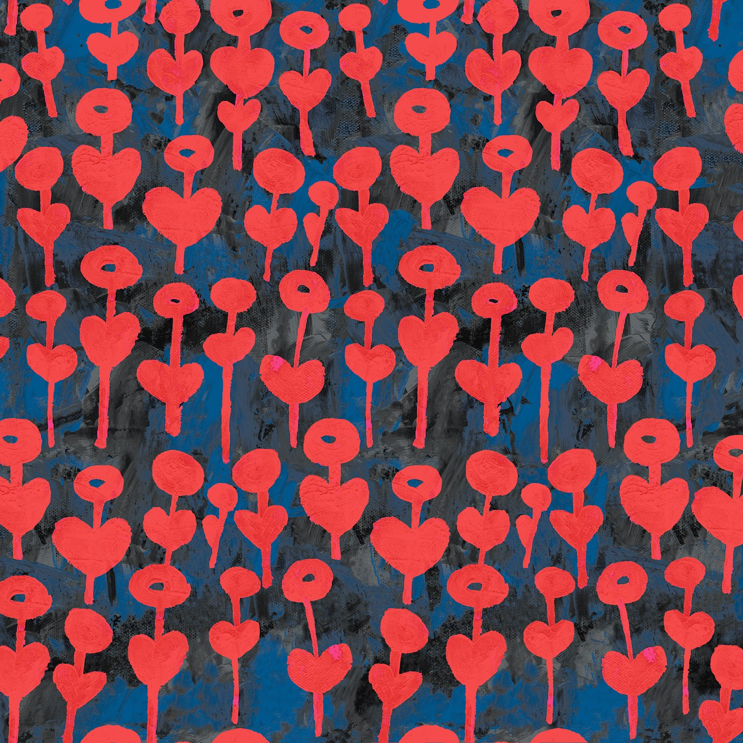 Love Flower Cherry Rayon - Once Upon A Time