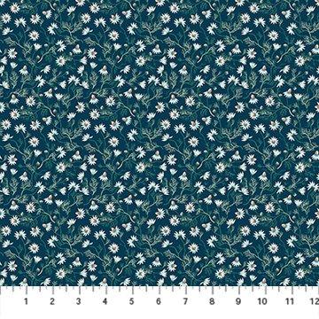 Chamomile in Navy Rayon - Forage - Sarah Gordon for FIGO Fabrics