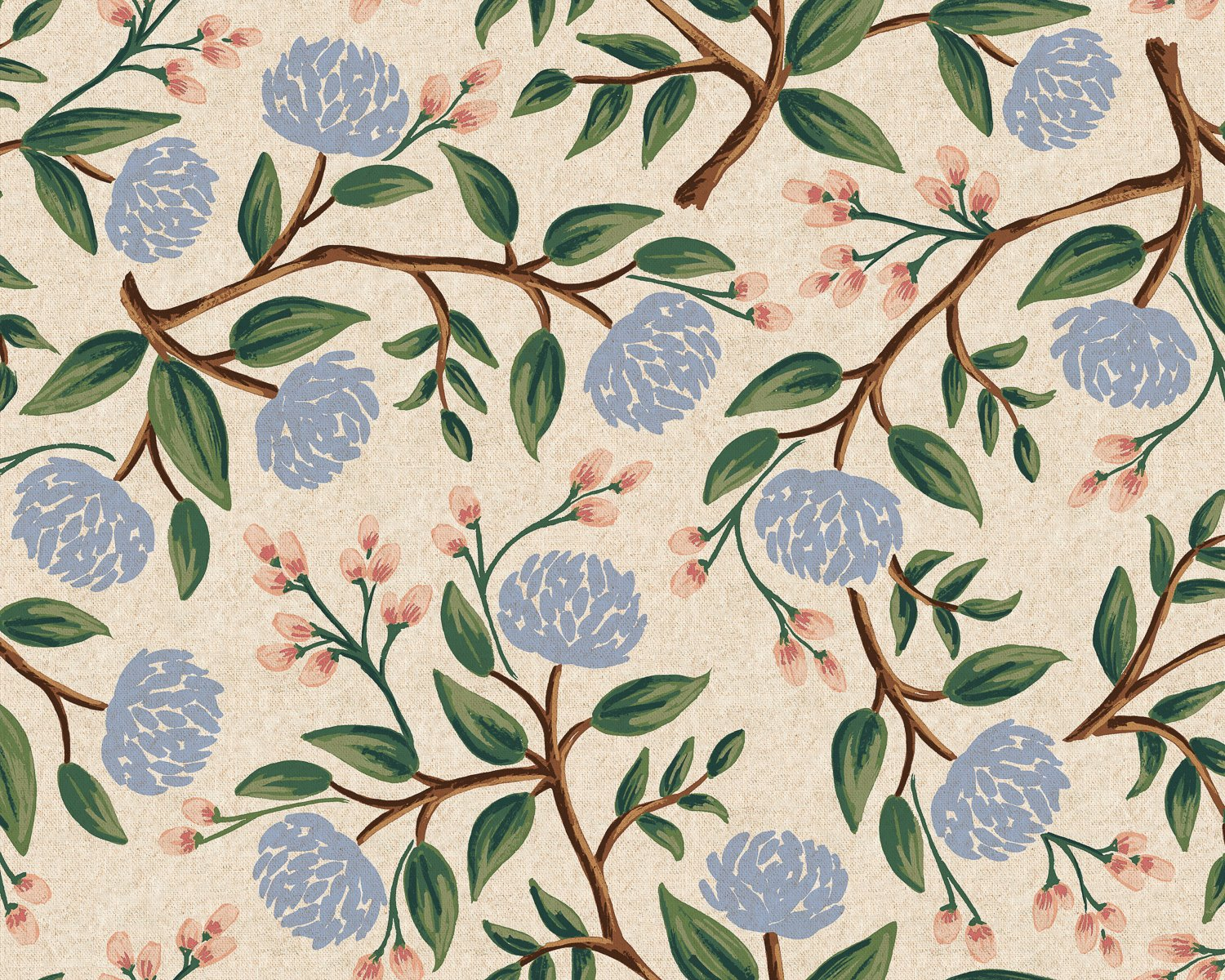 Peonies - Cream Canvas  Wildwood - Rifle Paper Co.