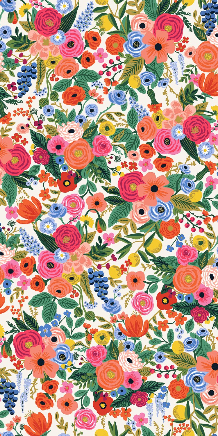 Petite Garden Party - Pink Rayon  Wildwood - Rifle Paper Co.
