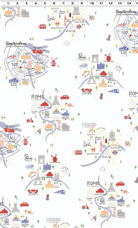 City Maps Light Periwinkle