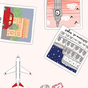 Travel Scrapbook - Light Coral