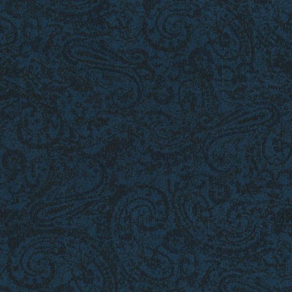 Delhi - Tonal Paisley - Deep Blue Fabric