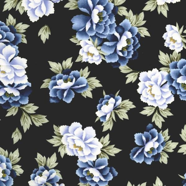 Indigo Essence - Camelia - Blue Fabric