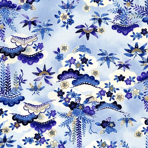 Indigo Essence - Dawn - Blue Fabric