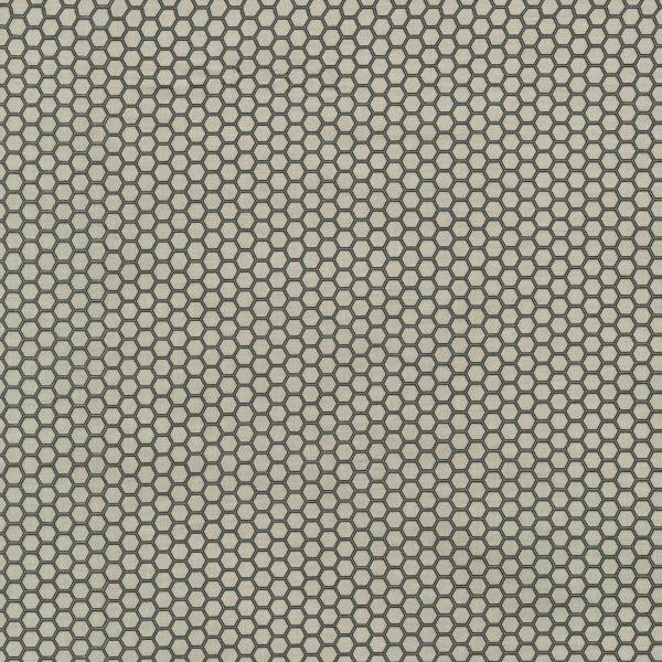 Queen Bee - Honeycomb - Pewter Fabric