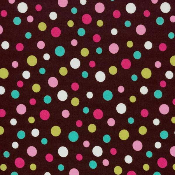 Dots & Stripes - Dots - Brown Fabric
