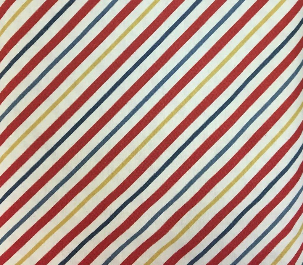 Blue/White/Red/Yellow Diagonal Stripe