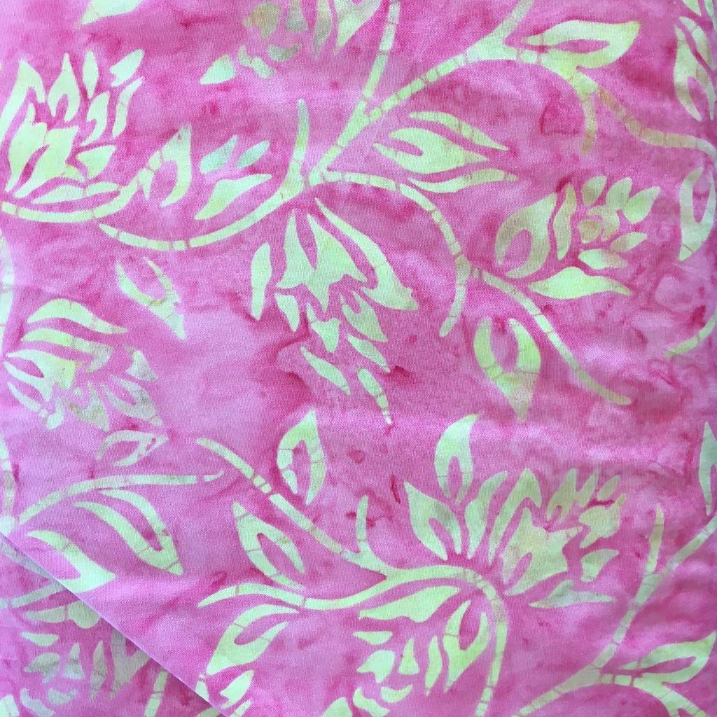 Majestic Batik Pink w/light tan print