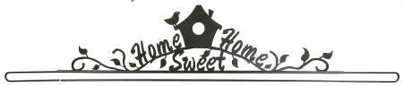 Home Sweet Home Split Bottom Quilt Hanger