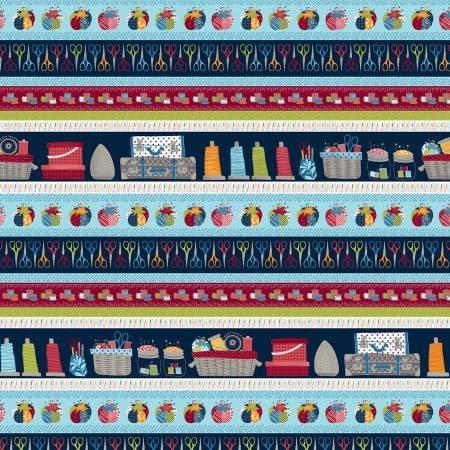 Crafty Studio Navy Border Stripe