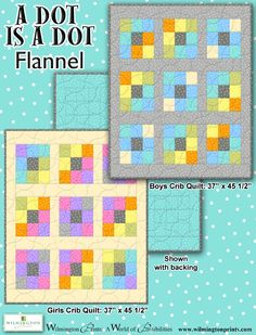 A Dot is a Dot Flannel Kit Girl