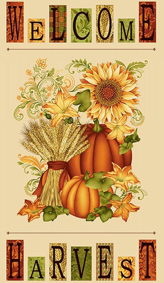 Cream  Harvest Panel - Welcome Harvest