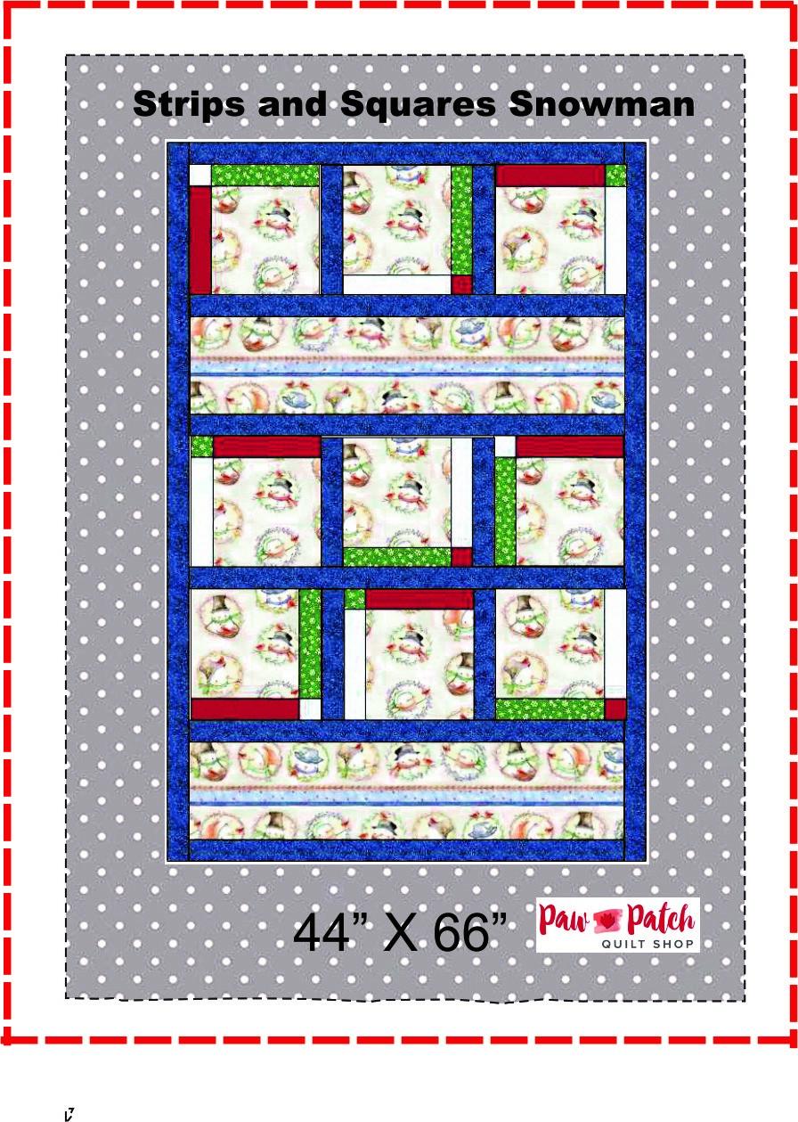 Strips & Squares Snowmen Kit