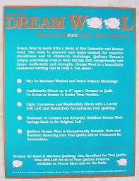 Craft Size- Dream Wool Batting