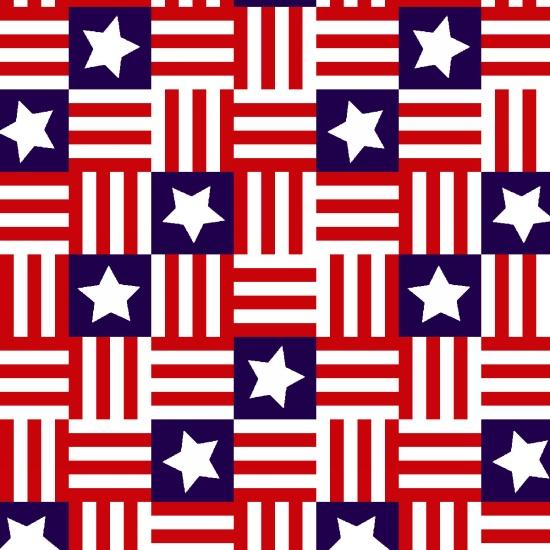 Red, White & Starry Blue- Flag