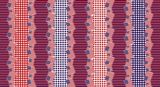 Red, White & Starry Blue- Stripe