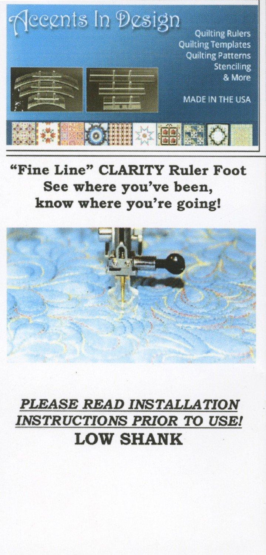 Ruler Foot Low Shank Fine Line Clarity