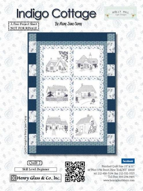Indigo Cottage Quilt Kit