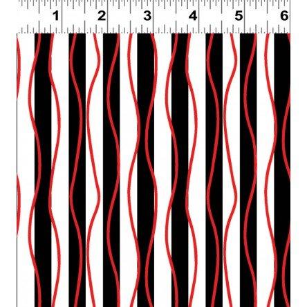 Poppy Passion- Black Stripes