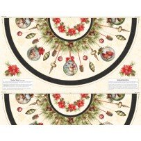 Tree Skirt Panel  Woodland Holiday