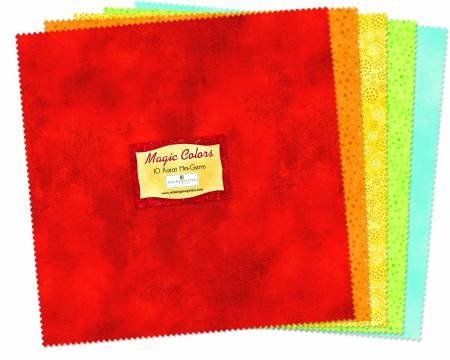10in Squares Magic Colors 24pcs/bundle