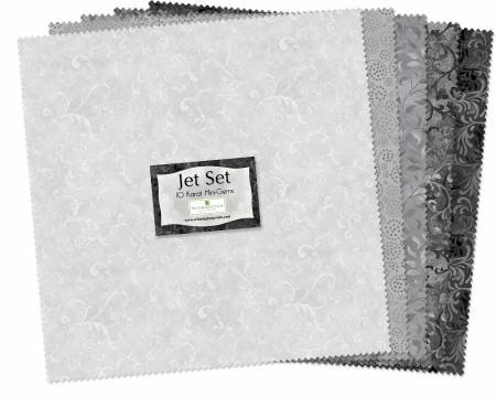 10in Squares Jet Set 24pcs/bundle