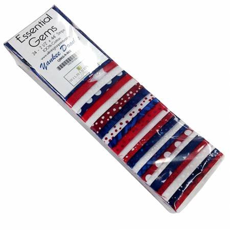 Essential Gems Yankee Doodle 24pcs 2-1/2in x 44in Stripes