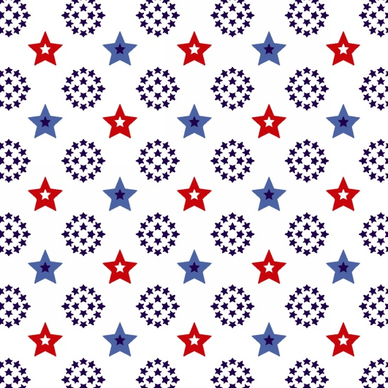 Red, White & Starry Blue- Stars