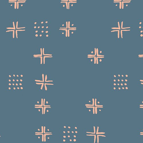 Tapestry  Mudcloth Blue