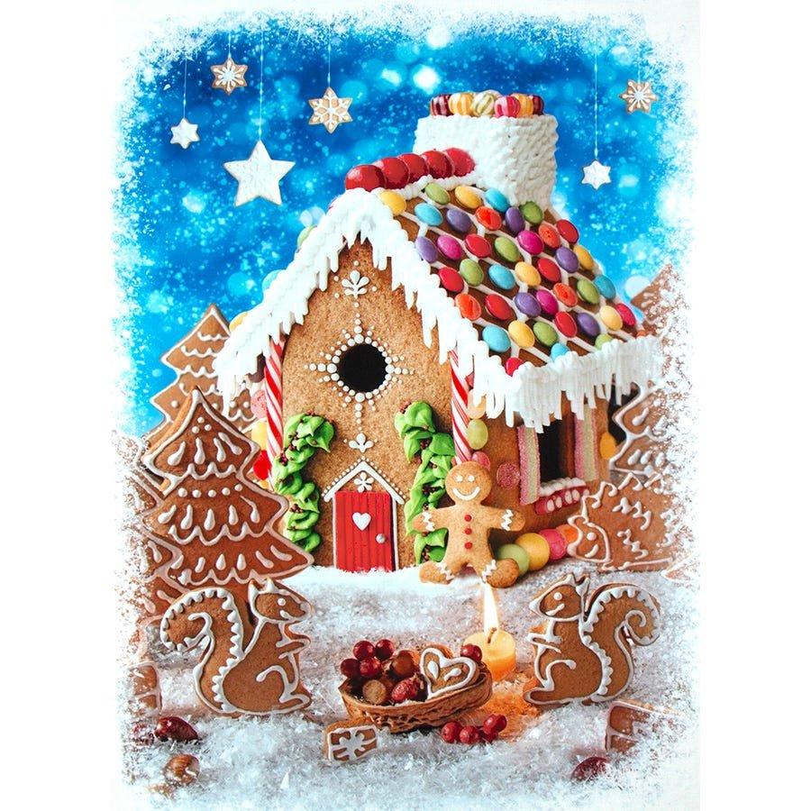156 - Peppermint Lane Gingerbread panel