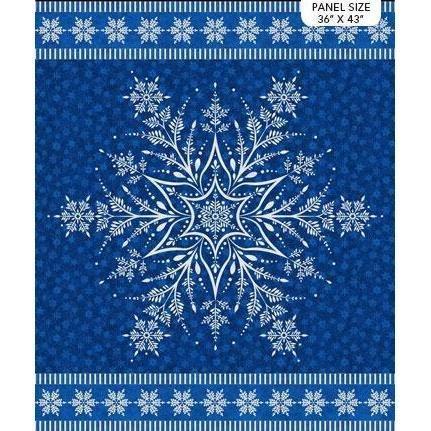 160 - Snowflake panel - Blue