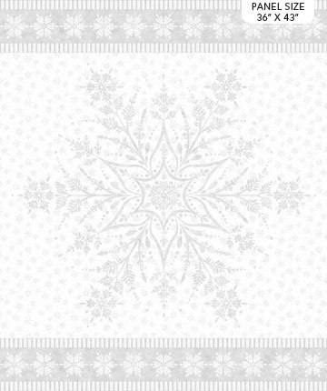 161 - Snowflake panel - Silver