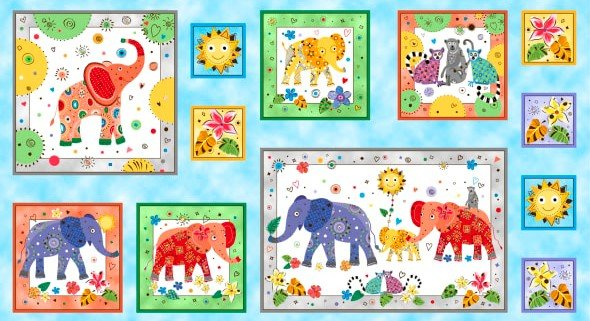 146 - Happy Elephants panel