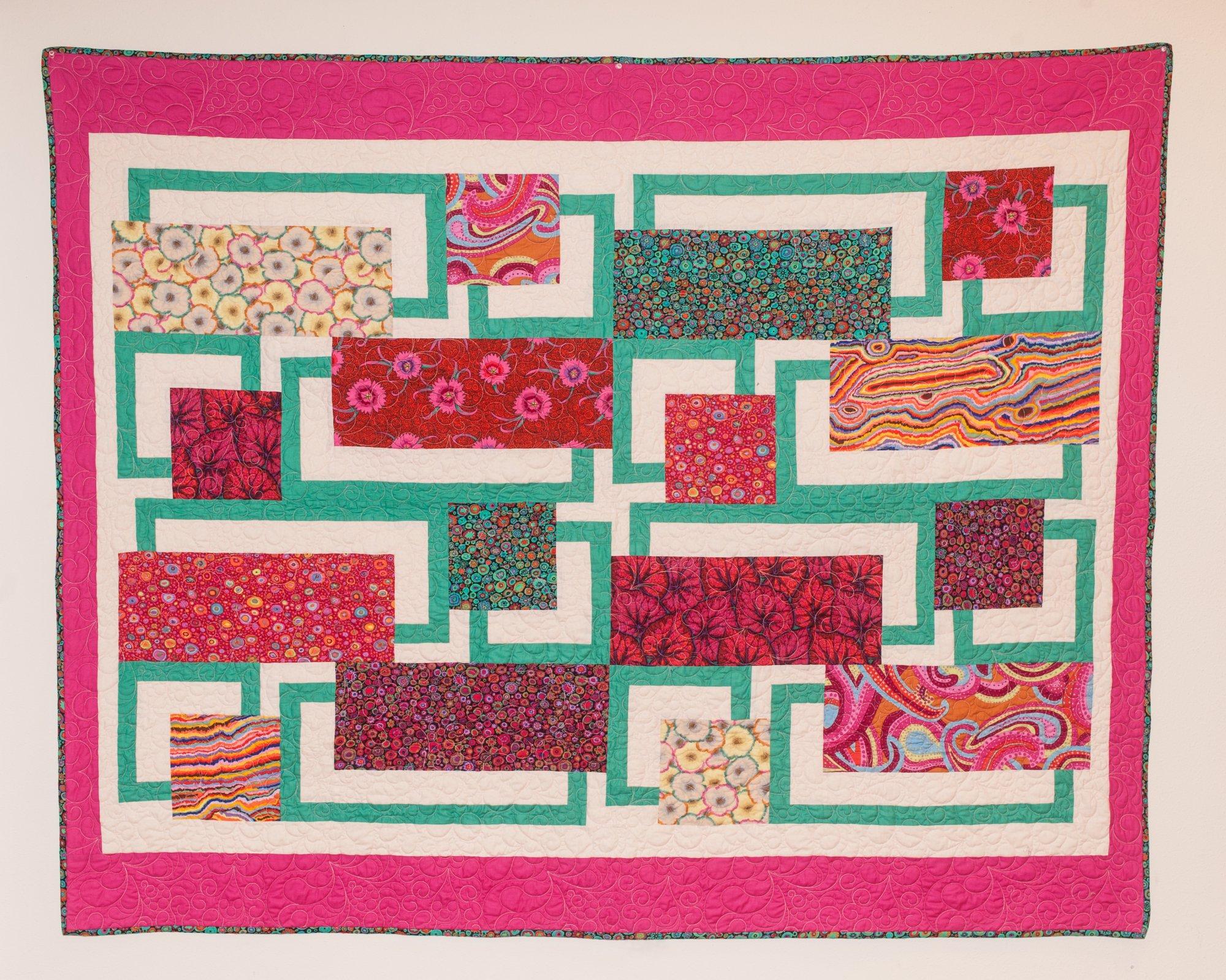 BQ5 Quilt w/Kaffe fabrics 60 x 74