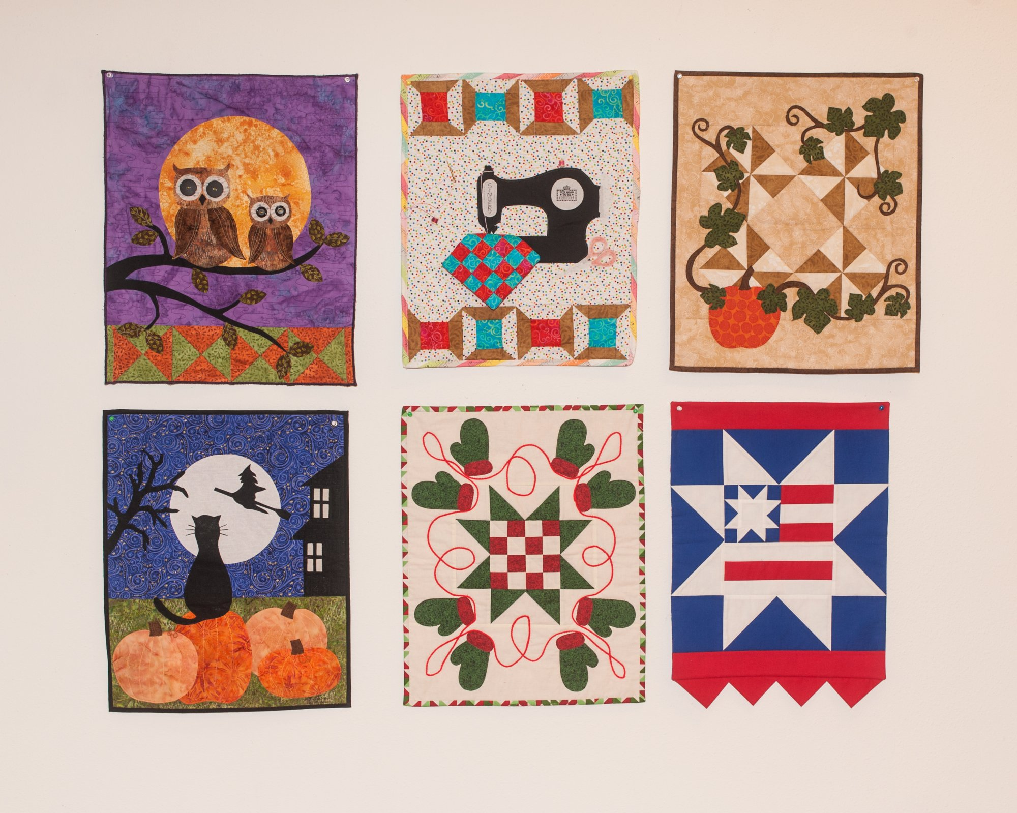 Six Small Wallhangings approx 18 x 20 priced by EACH