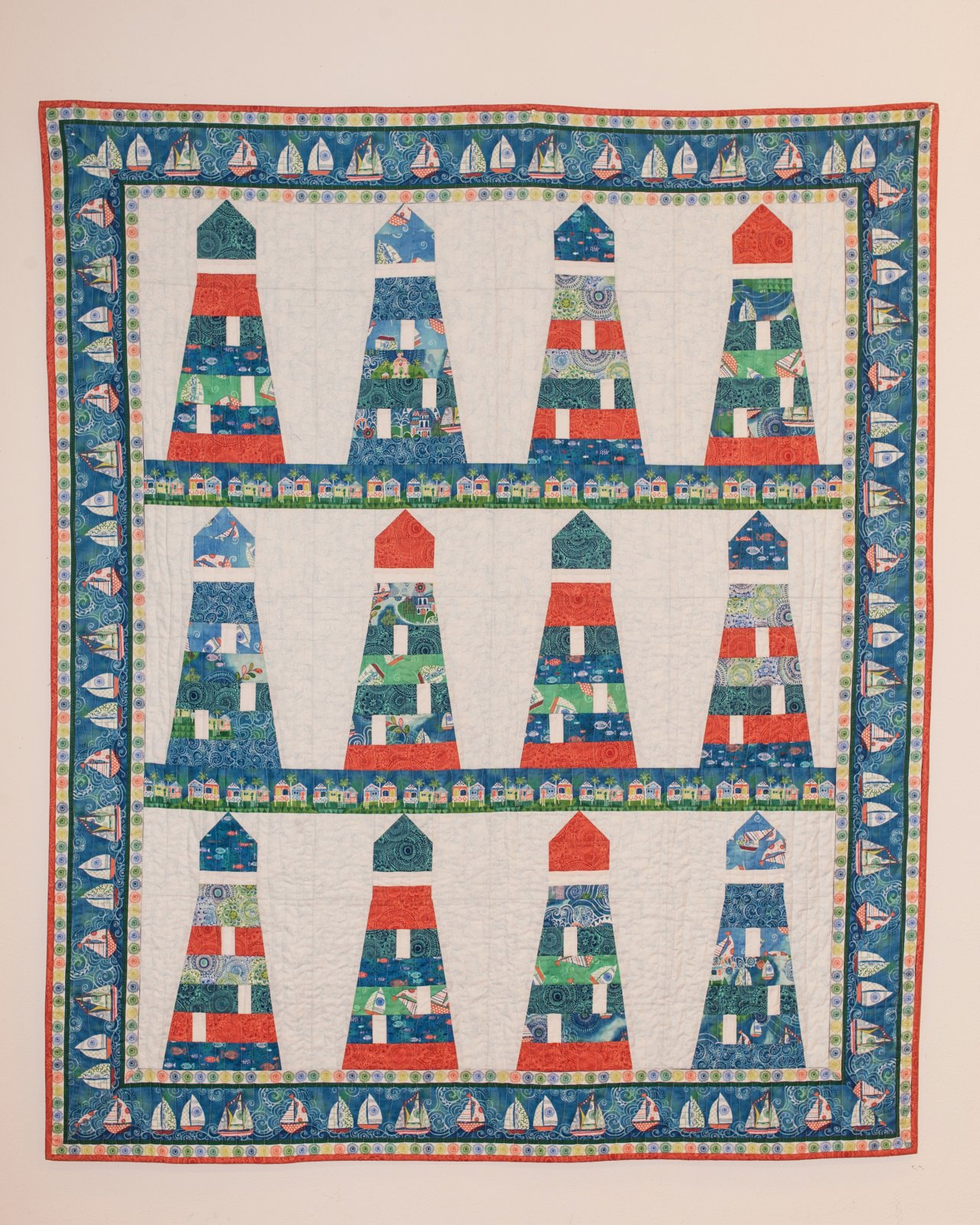 Lighthouse Quilt 56 x 68