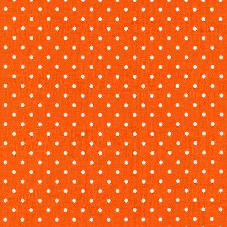 Dots - white dots on orange - flannel
