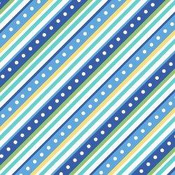 Blue Diagonal Stripe Flannel