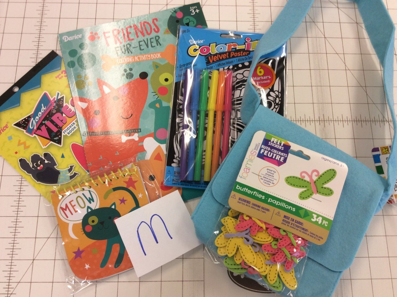 Busy Bags-M- mixed bag of children's craft supplies/projects