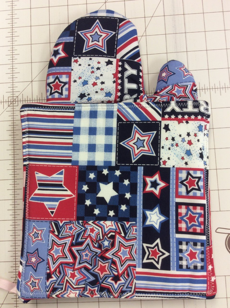Oven Mitt&Hotpad Set-Stars and Stripes